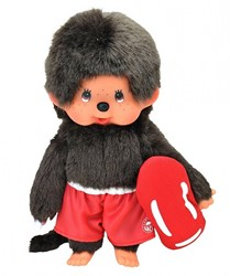 Monchhichi  knuffelpop Jongen Strandwacht - 20 cm