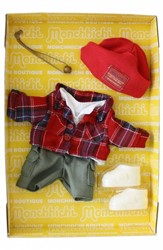 Monchhichi  knuffelpop kleren Boutique B Shirt geruit