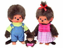 Monchhichi  knuffelpop Familieset 3-delig - 20 cm