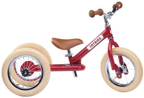Trybike loopfiets 2-in-1 staal vintage rood