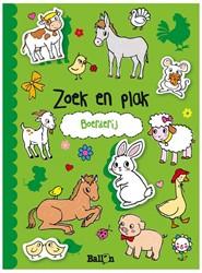 Kinderboeken  doeboek Zoek & plak boerderij