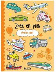 Kinderboeken  doeboek Zoek & plak voertuigen