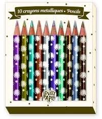 Djeco 10 Chic mini metalic pencils