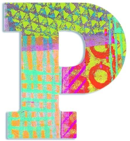 Djeco P - Peacock letter