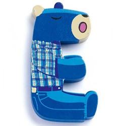 Djeco houten letter E - Animals