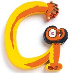Djeco houten letter G - Animals