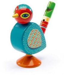 Djeco houten fluit Vogel