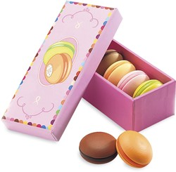 Djeco houten keukenaccessoire Box 6 macarons