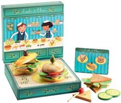 Djeco houten keuken accessoire broodjes kraam Emile & Olive