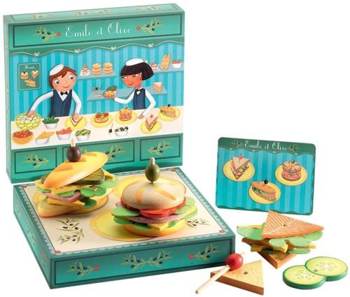 Djeco Speelset Bijzondere Broodjesbar Emile & Olive