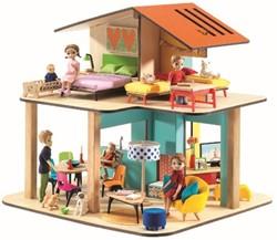 Djeco houten poppenhuis Modern house