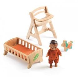 Djeco houten poppenhuismeubels Sweetie's room