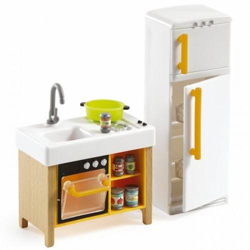 Djeco Poppenhuis Meubels Keuken Compact