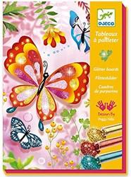 Djeco glitterkaarten Glitter butterflies