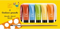 Djeco 8 tubes of gouache - Classic colours