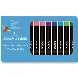 Djeco 12 oil pastels - Classic colours