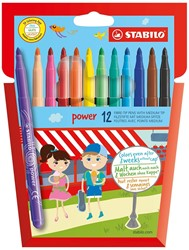 STABILO power viltstift etui 12 stuks