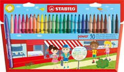 STABILO power viltstift etui 30 stuks