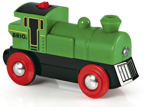 BRIO Groene locomotief op batterijen - 33595