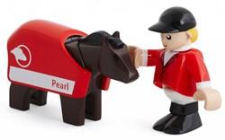 Brio  houten trein accessoire Paard en jockey 33793