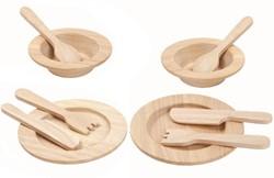 Plan Toys  houten keuken accessoires Tableware Set 3414