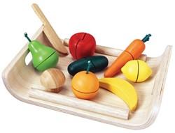 Plan Toys houten keuken accessoires Assorted fruit & vegetable