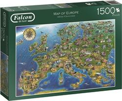 Jumbo Falcon Map of Europe - 1500 stukjes