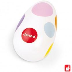 Janod  Confetti houten muziekinstrument Maracas eieren