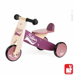 Janod  houten driewieler loopfiets Bikloon Paars