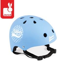 Janod - houten loopfiets - Bikloon - helm blauw