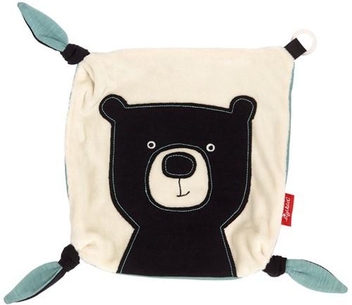 sigikid Comforter with dummy holder bear, Black & White Collection 39114