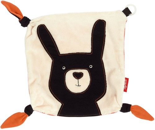 sigikid Comforter with dummy holder rabbit, Black & White Collection 39115