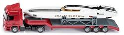 Siku  miniatuur speelvoertuig Zwaartransport met boot 3936