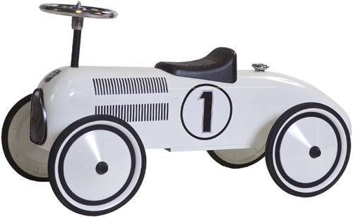 Retro Roller  loopauto witte Lewis