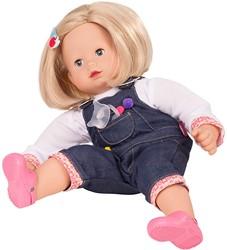 Götz babypop Maxy Muffin, denim, blonde hair - maat M