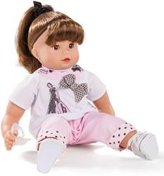 Götz babypop Maxy Muffin, ladies&spots, brown hair - maat M