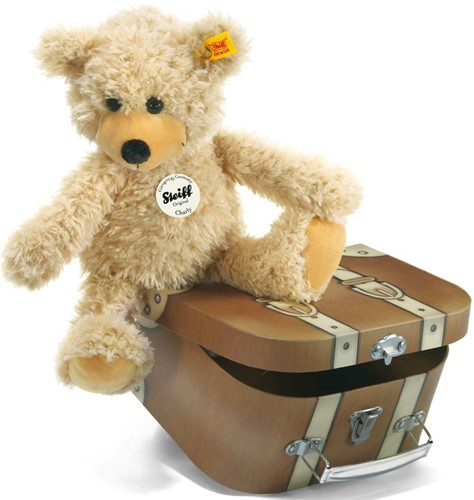 Steiff Slungel-Teddybeer Charly in koffer - 30 cm