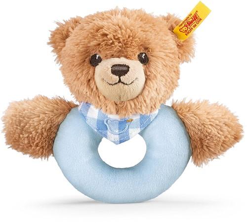 Steiff Slaap-goed-beer grijpring met rammelaar