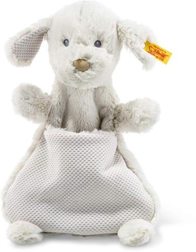 Steiff knuffeldoekje Soft Cuddly Friends hond Baster, lichtgrijs