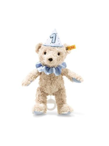 Steiff Eerste verjaardag Teddybeer jongen speelklok