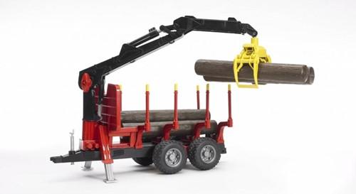 Bruder Bomentransporwagen met grijper en bomen - 2252