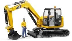 Bruder  - Cat Minibagger met bouwarbeiders