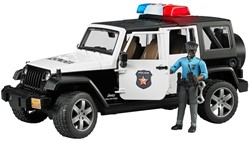 Bruder  - Politie Jeep met politieagent ( donkere huidskleur ) en acce
