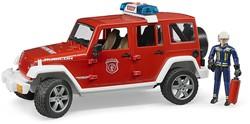 Bruder - Hulpdienste speelvoertuig - Jeep Wrangler Unlimited Rubicon Brandweer en brandweerman