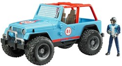 Bruder  - Jeep Cross Country Blauw met rally-rijder