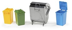 Bruder  - Accessories: Garbage can set (3 small. 1 large)