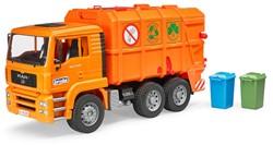 Bruder -Dienstvoertuigen - MAN Vuilniswagen oranje