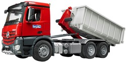 Bruder MB Arocs truck with Roll-Off-Container