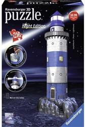 Ravensburger  3D puzzel Vuurtoren night edition 3D
