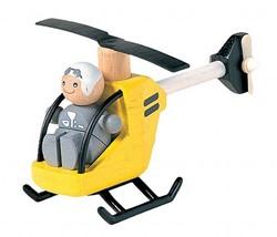 Plan Toys  houten speelvoertuig Helikopter 6060